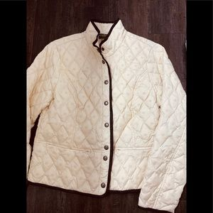 Eddie Bauer 650 Fill Quilted Embroidered Jacket